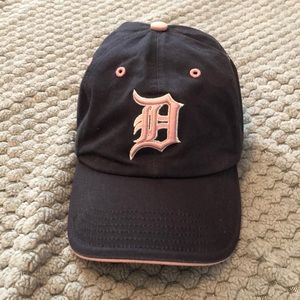 Detroit Tigers Navy and Pink Women's Baseball Hat